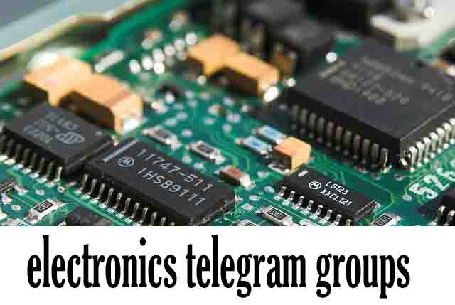 electronics telegram groups
