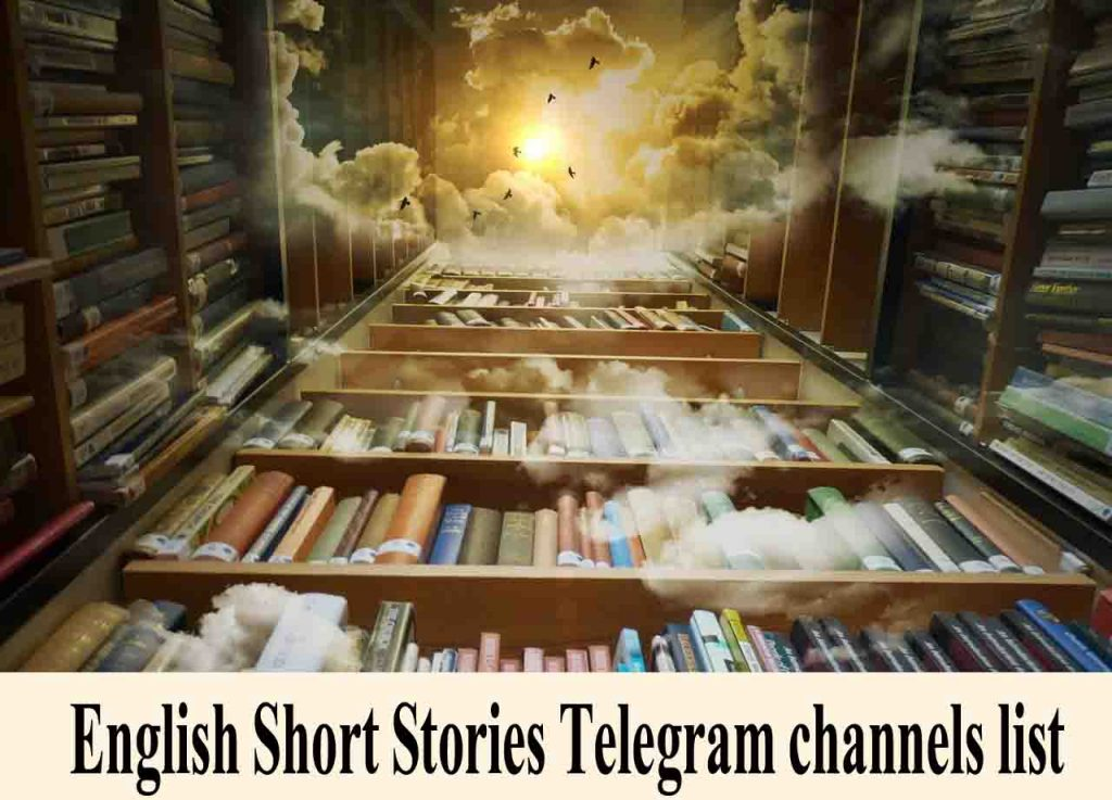 English short stories telegram channels intro image